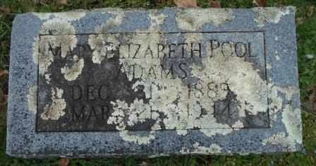 ADAMS, MARY ELIZABETH - Howell County, Missouri | MARY ELIZABETH ADAMS - Missouri Gravestone Photos