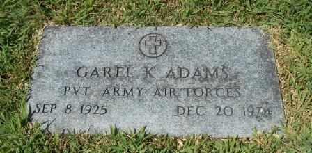 ADAMS, GAREL KENNETH VETERAN - Howell County, Missouri | GAREL KENNETH VETERAN ADAMS - Missouri Gravestone Photos