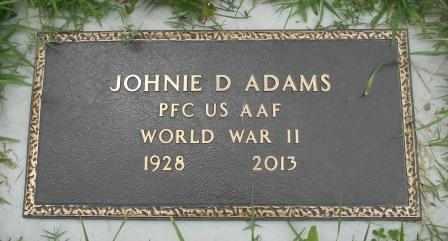 ADAMS, JOHNIE DAVID VETERAN WWII - Howell County, Missouri | JOHNIE DAVID VETERAN WWII ADAMS - Missouri Gravestone Photos