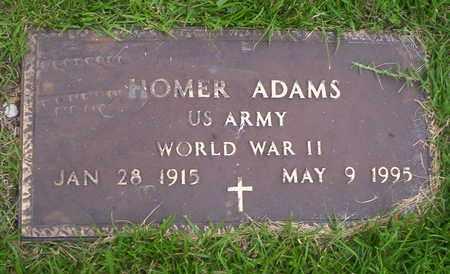 ADAMS, HOMER VETERAN WWII - Howell County, Missouri   HOMER VETERAN WWII ADAMS - Missouri Gravestone Photos
