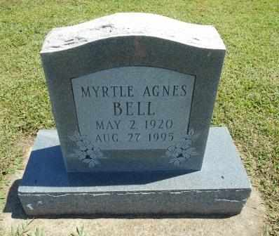 BELL, MYRTLE AGNES - Howell County, Missouri | MYRTLE AGNES BELL - Missouri Gravestone Photos
