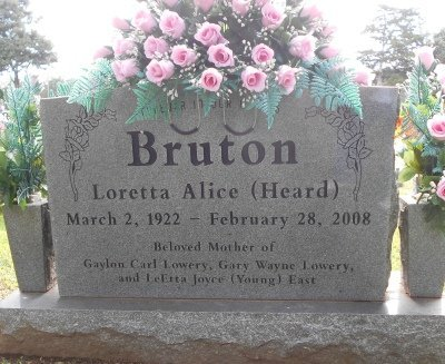 YOUNG, LORETTA ALICE - Howell County, Missouri | LORETTA ALICE YOUNG - Missouri Gravestone Photos