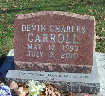 CARROLL, DEVIN CHARLES - Howell County, Missouri | DEVIN CHARLES CARROLL - Missouri Gravestone Photos