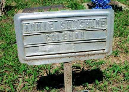 COLEMAN, ANNIE SUNSHINE - Howell County, Missouri | ANNIE SUNSHINE COLEMAN - Missouri Gravestone Photos
