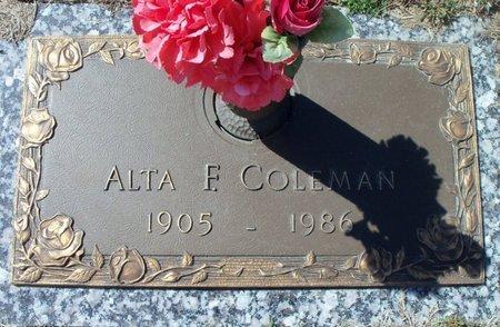 COLEMAN, ALTA F. - Howell County, Missouri | ALTA F. COLEMAN - Missouri Gravestone Photos