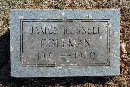 COLEMAN, JAMES RUSSELL - Howell County, Missouri | JAMES RUSSELL COLEMAN - Missouri Gravestone Photos