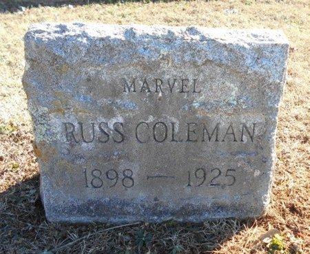 RUSS COLEMAN, MARVEL E. - Howell County, Missouri | MARVEL E. RUSS COLEMAN - Missouri Gravestone Photos