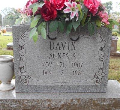 DAVIS, AGNES S. - Howell County, Missouri | AGNES S. DAVIS - Missouri Gravestone Photos