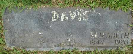 DAVIS, ELIZABETH - Howell County, Missouri | ELIZABETH DAVIS - Missouri Gravestone Photos