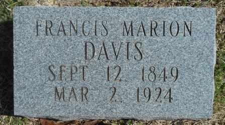 DAVIS, FRANCIS MARION - Howell County, Missouri | FRANCIS MARION DAVIS - Missouri Gravestone Photos