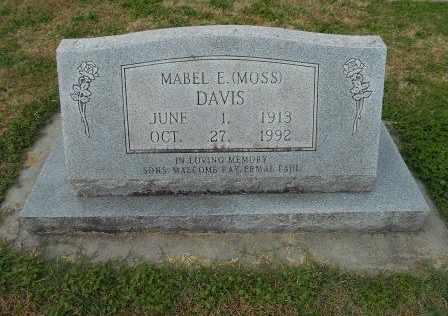 DAVIS, MABEL E. - Howell County, Missouri | MABEL E. DAVIS - Missouri Gravestone Photos