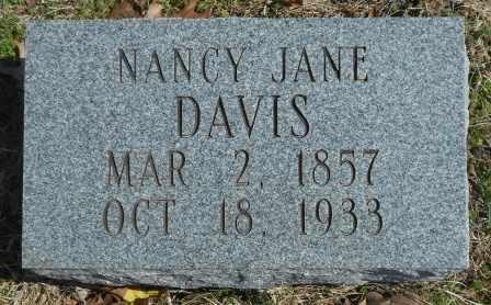 DAVIS, NANCY JANE - Howell County, Missouri   NANCY JANE DAVIS - Missouri Gravestone Photos