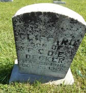 DECKER, CLIFFORD - Howell County, Missouri | CLIFFORD DECKER - Missouri Gravestone Photos