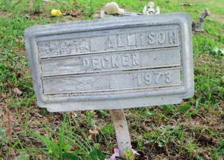 DECKER, MARIE ALLISON - Howell County, Missouri | MARIE ALLISON DECKER - Missouri Gravestone Photos