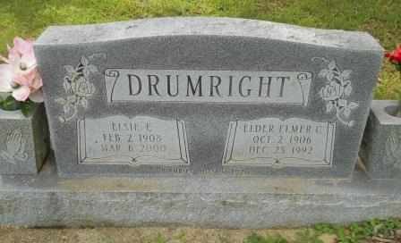 DRUMRIGHT, ELSIE - Howell County, Missouri   ELSIE DRUMRIGHT - Missouri Gravestone Photos