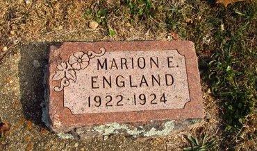 ENGLAND, MARION E. - Howell County, Missouri | MARION E. ENGLAND - Missouri Gravestone Photos