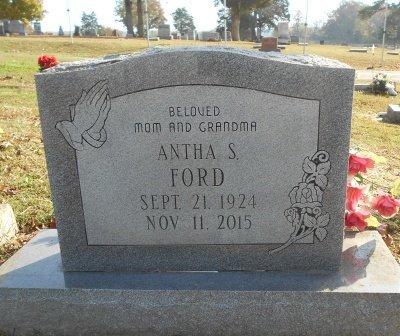 FORD, ANTHA S. - Howell County, Missouri | ANTHA S. FORD - Missouri Gravestone Photos