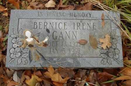 GANN, BERNICE IRENE - Howell County, Missouri | BERNICE IRENE GANN - Missouri Gravestone Photos