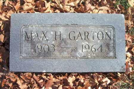 GARTON, MAX H. - Howell County, Missouri | MAX H. GARTON - Missouri Gravestone Photos