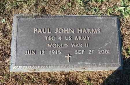 HARMS, PAUL JOHN VETERAN WWII - Howell County, Missouri | PAUL JOHN VETERAN WWII HARMS - Missouri Gravestone Photos