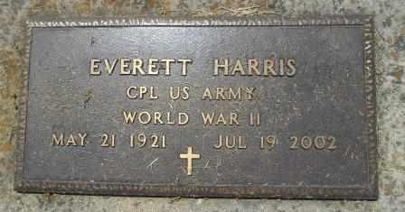HARRIS, EVERETT VETERAN WWII - Howell County, Missouri | EVERETT VETERAN WWII HARRIS - Missouri Gravestone Photos