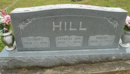 HILL, BERTHA - Howell County, Missouri | BERTHA HILL - Missouri Gravestone Photos