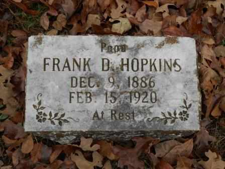 HOPKINS, FRANKLIN D. - Howell County, Missouri | FRANKLIN D. HOPKINS - Missouri Gravestone Photos