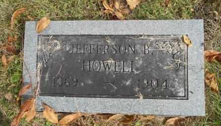 HOWELL, JEFFERSON B. - Howell County, Missouri | JEFFERSON B. HOWELL - Missouri Gravestone Photos