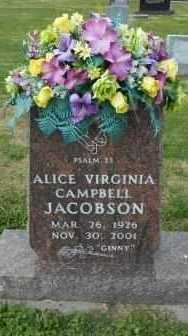CAMPBELL, ALICE VIRGINIA - Howell County, Missouri | ALICE VIRGINIA CAMPBELL - Missouri Gravestone Photos