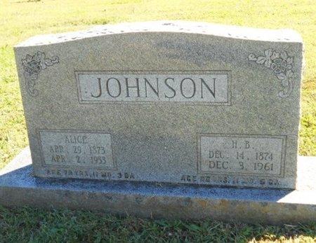 "JOHNSON, HORACE BEDFORD ""H.B."" - Howell County, Missouri | HORACE BEDFORD ""H.B."" JOHNSON - Missouri Gravestone Photos"