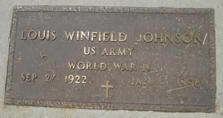 JOHNSON, LOUIS WINFIELD VETERAN WWII - Howell County, Missouri | LOUIS WINFIELD VETERAN WWII JOHNSON - Missouri Gravestone Photos