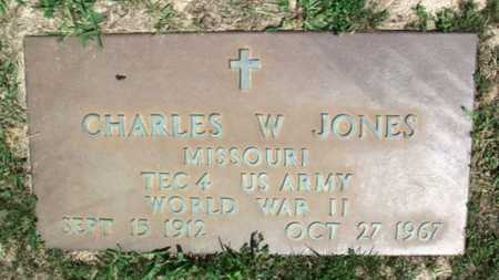 JONES, CHARLES W. VETEERAN WWII - Howell County, Missouri | CHARLES W. VETEERAN WWII JONES - Missouri Gravestone Photos