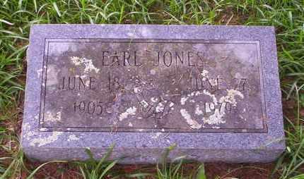 JONES, EARL - Howell County, Missouri | EARL JONES - Missouri Gravestone Photos
