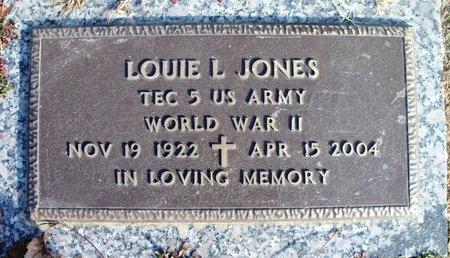 JONES, LOUIE L. VETERAN WWII - Howell County, Missouri | LOUIE L. VETERAN WWII JONES - Missouri Gravestone Photos