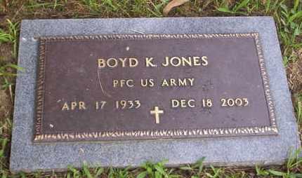 JONES, BOYD K VETERAN - Howell County, Missouri   BOYD K VETERAN JONES - Missouri Gravestone Photos