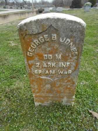 JONES, GEORGE VETERAN SP AM WAR - Howell County, Missouri   GEORGE VETERAN SP AM WAR JONES - Missouri Gravestone Photos