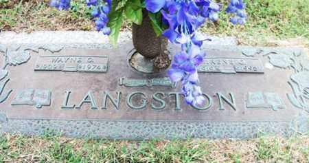LANGSTON, IRENE G. - Howell County, Missouri | IRENE G. LANGSTON - Missouri Gravestone Photos