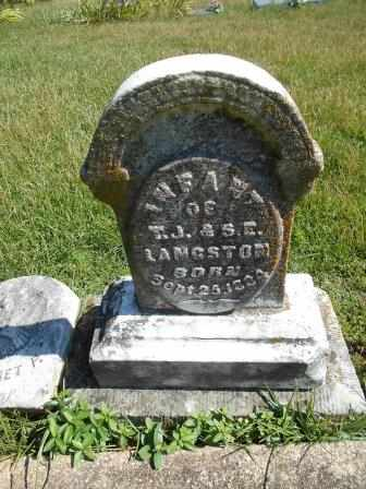 LANGSTON, INFANT - Howell County, Missouri | INFANT LANGSTON - Missouri Gravestone Photos