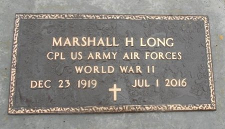 LONG, MARSHALL HENRY VETERAN WWII - Howell County, Missouri | MARSHALL HENRY VETERAN WWII LONG - Missouri Gravestone Photos
