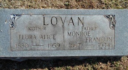 EDWARDS LOVAN, FLORA ALICE - Howell County, Missouri | FLORA ALICE EDWARDS LOVAN - Missouri Gravestone Photos