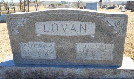 LOVAN, HENDERSON W. - Howell County, Missouri   HENDERSON W. LOVAN - Missouri Gravestone Photos