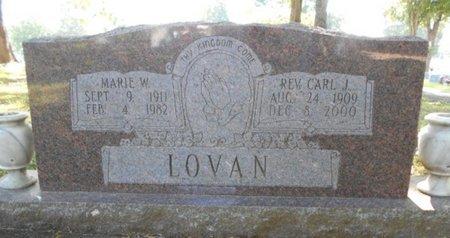 LOVAN, MARIE W. - Howell County, Missouri | MARIE W. LOVAN - Missouri Gravestone Photos