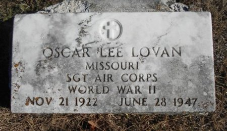 LOVAN, OSCAR LEE VETERAN WWII - Howell County, Missouri | OSCAR LEE VETERAN WWII LOVAN - Missouri Gravestone Photos