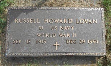 LOVAN, RUSSELL HOWARD VETERAN WWII - Howell County, Missouri | RUSSELL HOWARD VETERAN WWII LOVAN - Missouri Gravestone Photos