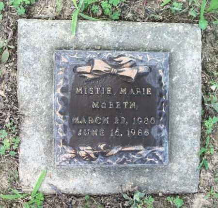 MCBETH, MISTIE MARIE - Howell County, Missouri | MISTIE MARIE MCBETH - Missouri Gravestone Photos