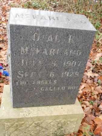 MCFARLAND, OVAL - Howell County, Missouri | OVAL MCFARLAND - Missouri Gravestone Photos