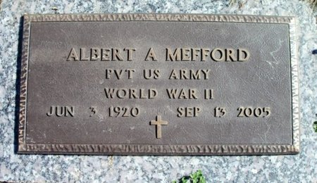 MEFFORD, ALBERT AMON VETERAN WWII - Howell County, Missouri | ALBERT AMON VETERAN WWII MEFFORD - Missouri Gravestone Photos