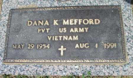 MEFFORD (VETERAN VIETNAM), DANA K. - Howell County, Missouri | DANA K. MEFFORD (VETERAN VIETNAM) - Missouri Gravestone Photos