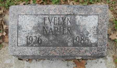NAPIER, EVELYN - Howell County, Missouri | EVELYN NAPIER - Missouri Gravestone Photos