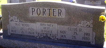 PORTER, CLYDE DALLAS - Howell County, Missouri | CLYDE DALLAS PORTER - Missouri Gravestone Photos